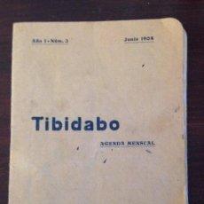 Coleccionismo Recortables: BARCELONA TIBIDABO AGENDA MENSUAL REGALO PASAJEROS FERROCARRIL. 1904. Lote 108692167