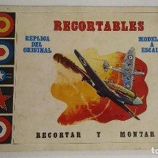 Coleccionismo Recortables: AVIONES RECORTABLES 2º GUERRA MUNDIAL. Lote 110134675