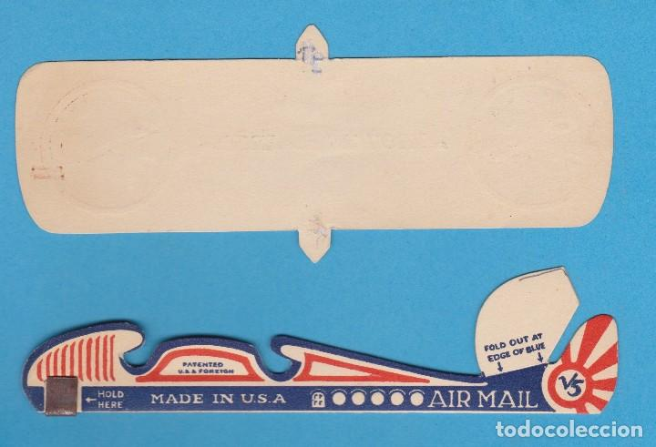 Coleccionismo Recortables: SPIRIT OF SAINT LOUIS. ONE NEW MODEL SAIL-ME AIRPLANE. AVIATIONS OFFICIAL TOY SHIP. CHICAGO - Foto 3 - 110649235