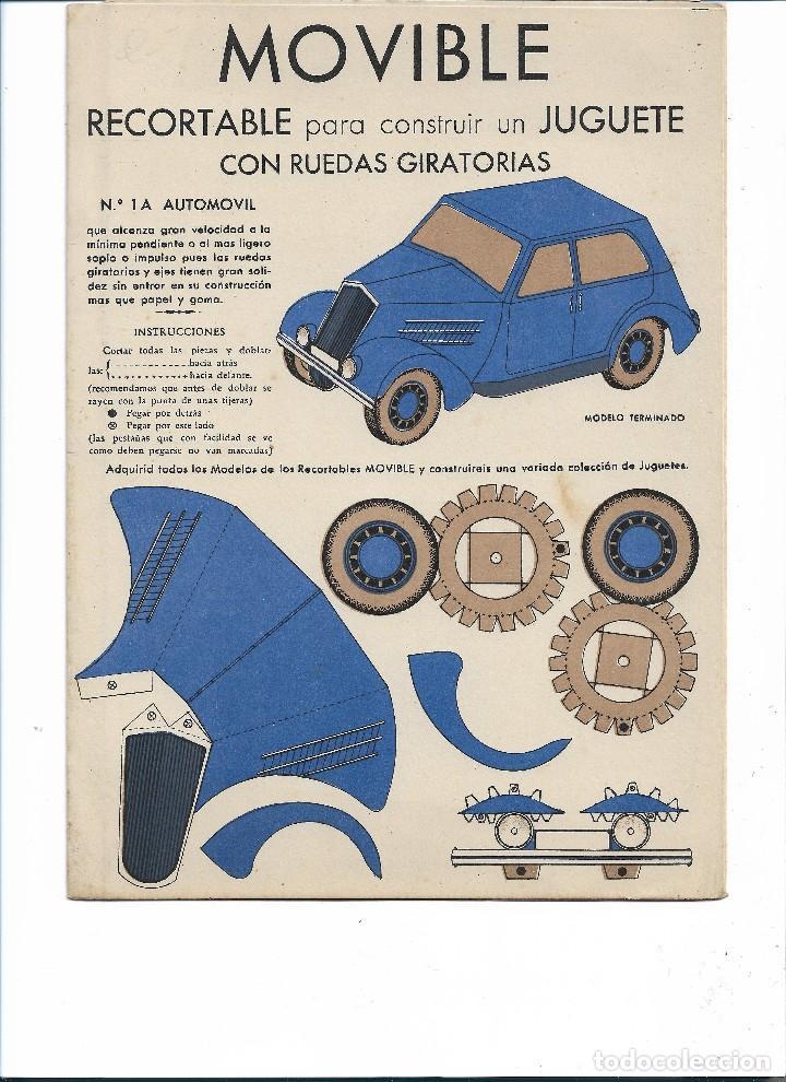 MOVIBLE RECORTABLE CON RUEDAS GIRATORIAS .- EDITOR E.B.A BARCELONA (Coleccionismo - Recortables - Transportes)