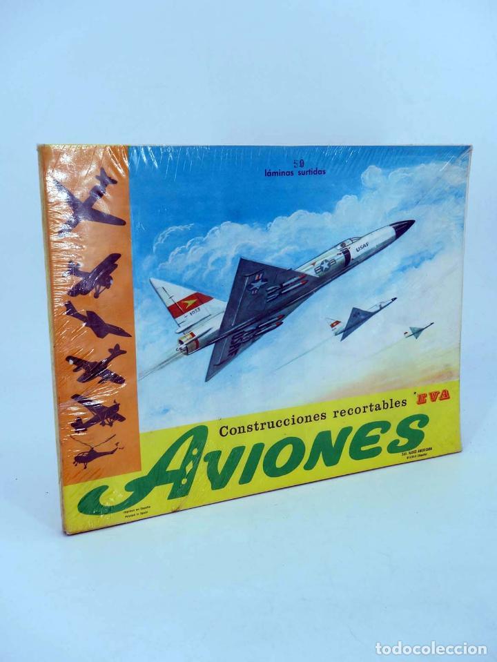 RECORTABLES EVA. AVIONES 1201 A 1210. LIBRO 50 LÁMINAS (NO ACREDITADO) VASCO AMERICANA, 1965 (Coleccionismo - Recortables - Transportes)