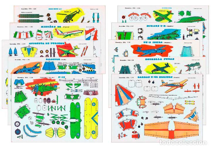Coleccionismo Recortables: RECORTABLES EVA. AVIONES 1201 A 1210. LIBRO 50 LÁMINAS (No Acreditado) Vasco Americana, 1965 - Foto 6 - 183538106