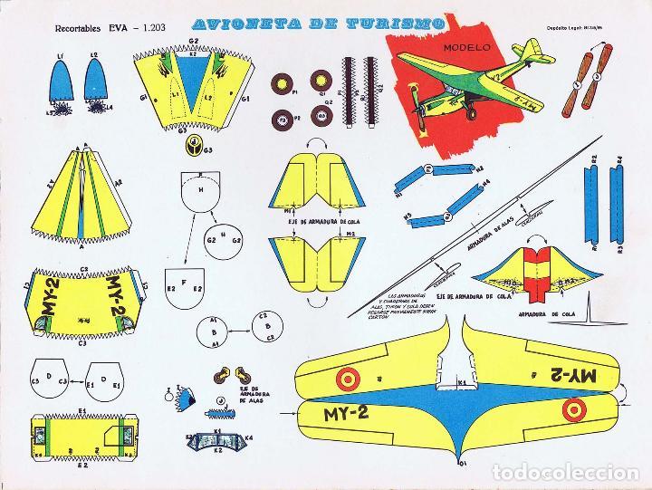 Coleccionismo Recortables: RECORTABLES EVA. AVIONES 1201 A 1210. LIBRO 50 LÁMINAS (No Acreditado) Vasco Americana, 1965 - Foto 9 - 183538106