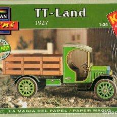 Coleccionismo Recortables: RECORTABLE CAMIONETA T-LAND 1927. ALCAN 1993. Lote 115387815
