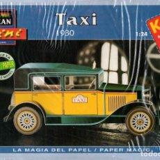 Coleccionismo Recortables: RECORTABLE TAXI 1930. ALCAN 1993. Lote 115387983