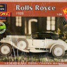 Coleccionismo Recortables: RECORTABLE COCHE ROLLS ROYCE 1928. ALCAN 1993. Lote 115388183