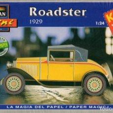Coleccionismo Recortables: RECORTABLE COCHE ROADSTER 1929. ALCAN 1993. Lote 115388319