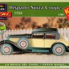 Coleccionismo Recortables: RECORTABLE COCHE HISPANO SUIZA COUPE 1934. ALCAN 1993. Lote 115388407