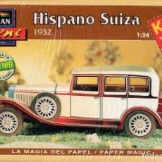 Coleccionismo Recortables: RECORTABLE COCHE HISPANO SUIZA 1932. ALCAN 1993. Lote 115388579