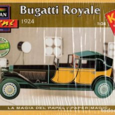 Coleccionismo Recortables: RECORTABLE COCHE BUGATTI ROYALE 1924. ALCAN 1993. Lote 115388759