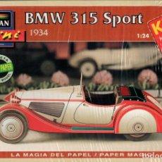 Coleccionismo Recortables: RECORTABLE COCHE BMW 315 SPORT 1934. ALCAN 1993. Lote 115388967
