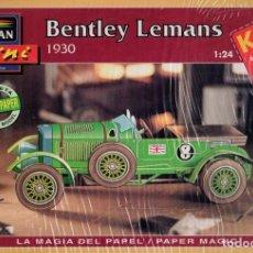 Coleccionismo Recortables: RECORTABLE COCHE BENTLEY LEMANS 1930. ALCAN 1993. Lote 115389131