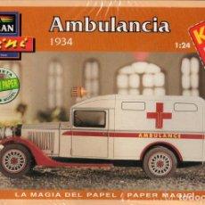 Coleccionismo Recortables: RECORTABLE AMBULANCIA 1934. ALCAN 1993. Lote 115389635