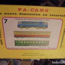Coleccionismo Recortables: P A CARS PA - TREN Nº 7 - DISTRIBERICA 1973 - STOCK TIENDA SIN ABRIR - ENVIO GRATIS. Lote 115392227