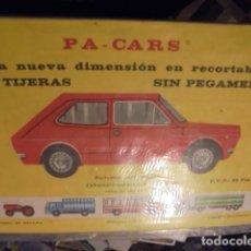 Coleccionismo Recortables: PA P A CARS - COCHE - PRECINTADO - DISTRIBERICA 1972 - ENVIO GRATIS. Lote 230943910