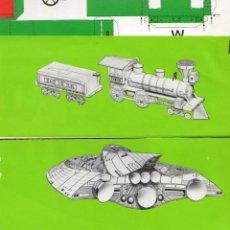 Coleccionismo Recortables: LOTE 4 RECORTABLES APLI TRANSPORTES (VER FOTOS). Lote 116173435