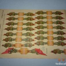 Coleccionismo Recortables: ANTIGUA HOJA DE RECORTABLES REGULARES DE MARRUECOS Nº 30 DE EDICIONES * LA TIJERA * AÑO 1940-50S.. Lote 119046215