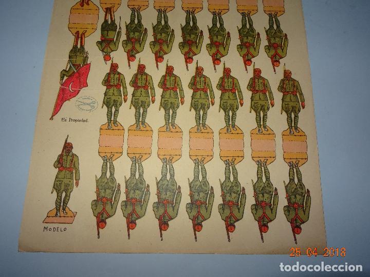 Coleccionismo Recortables: Antigua Hoja de Recortables REGULARES DE MARRUECOS Nº 30 de Ediciones * LA TIJERA * Año 1940-50s. - Foto 4 - 119046215