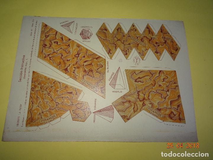 Coleccionismo Recortables: Hoja de Recortables SECCIÓN INSTRUCTIVA Geometria 1 Nº 221 de Ediciones * LA TIJERA * Año 1930-40s. - Foto 2 - 119050243