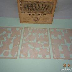 Coleccionismo Recortables: ANTIGUO SOBRE COMPLETO FIGURAS GEOMÉTRICAS DE SEIX BARRAL TROQUELADAS PARA PEGAR Y MONTAR. Lote 119149915