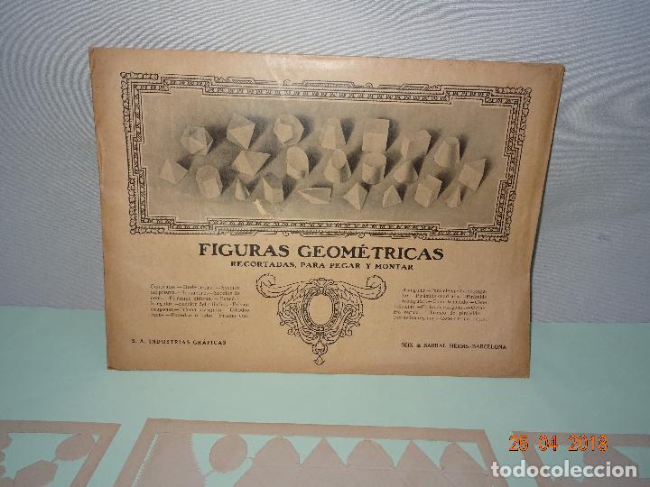 Coleccionismo Recortables: Antiguo Sobre Completo FIGURAS GEOMÉTRICAS de SEIX BARRAL Troqueladas Para Pegar y Montar - Foto 2 - 119149915