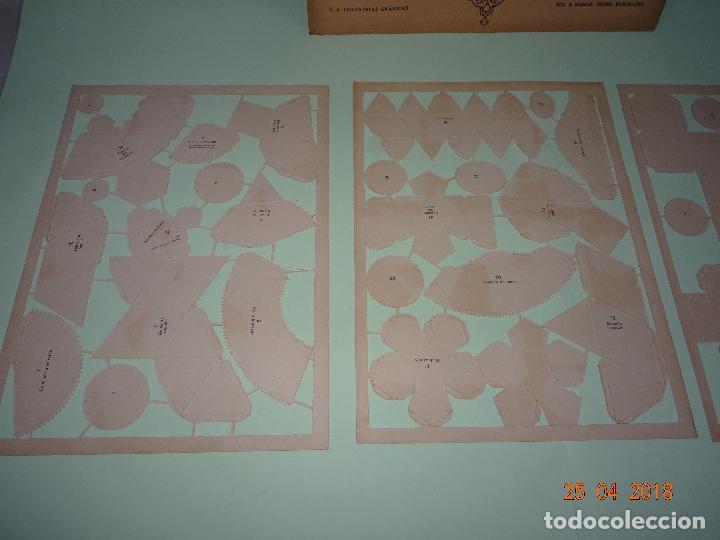 Coleccionismo Recortables: Antiguo Sobre Completo FIGURAS GEOMÉTRICAS de SEIX BARRAL Troqueladas Para Pegar y Montar - Foto 6 - 119149915