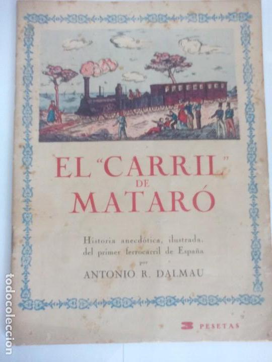 EL CARRIL DE MATARO (Coleccionismo - Recortables - Transportes)