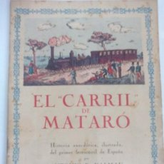 Coleccionismo Recortables: EL CARRIL DE MATARO. Lote 120050719