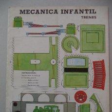 Coleccionismo Recortables: MECANICA INFANTIL TRENES EDITORIAL CANTABRICA.AÑO 1966. Lote 121591291