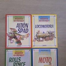 Coleccionismo Recortables: LOTE 4 MAQUETAS RECORTABLES SUSAETA AÑOS 90 AVION, LOCOMOTORA, MOTO, ROLLS ROYCE.. Lote 127152311