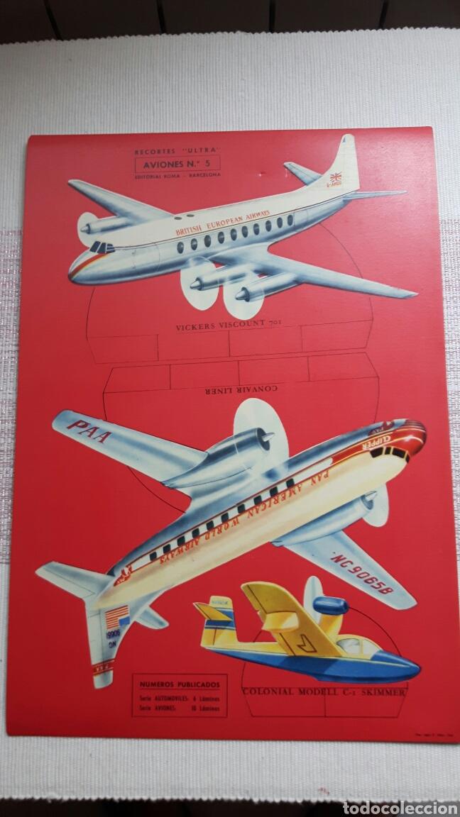 Coleccionismo Recortables: 5 recortables ed Roma (4 aviones 1 coches) - Foto 2 - 127875199