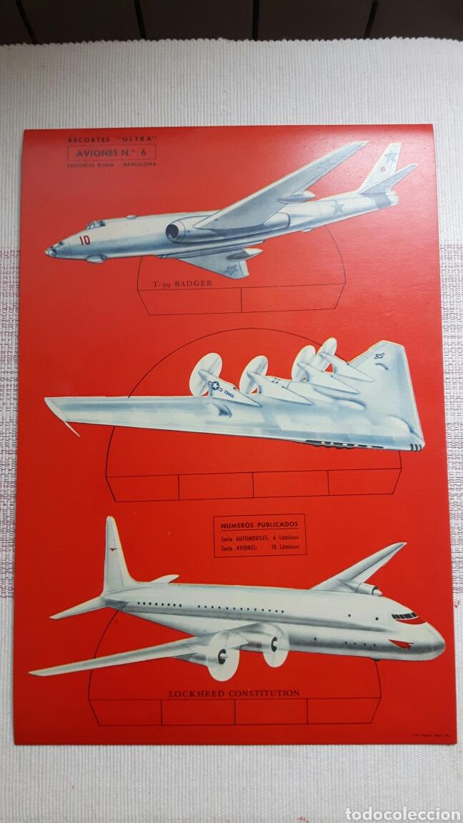 Coleccionismo Recortables: 5 recortables ed Roma (4 aviones 1 coches) - Foto 3 - 127875199