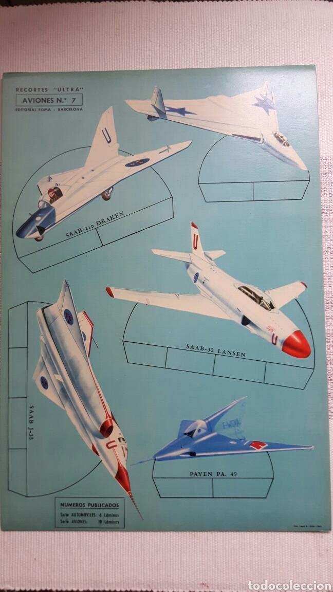 Coleccionismo Recortables: 5 recortables ed Roma (4 aviones 1 coches) - Foto 4 - 127875199