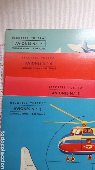 Coleccionismo Recortables: 5 recortables ed Roma (4 aviones 1 coches) - Foto 5 - 127875199