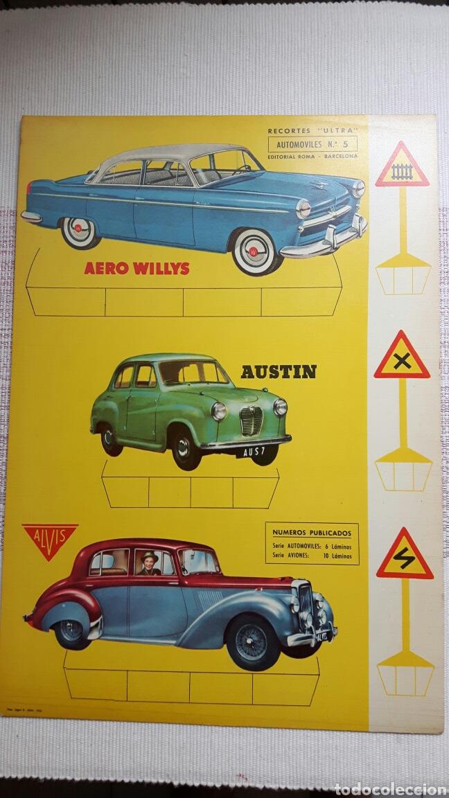 Coleccionismo Recortables: 5 recortables ed Roma (4 aviones 1 coches) - Foto 7 - 127875199