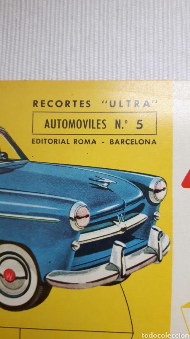 Coleccionismo Recortables: 5 recortables ed Roma (4 aviones 1 coches) - Foto 8 - 127875199