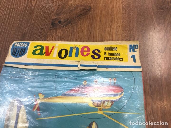 Coleccionismo Recortables: Bolsas Ultra Aviones Nº1 Contiene 5 laminas recortables - Foto 2 - 130400354