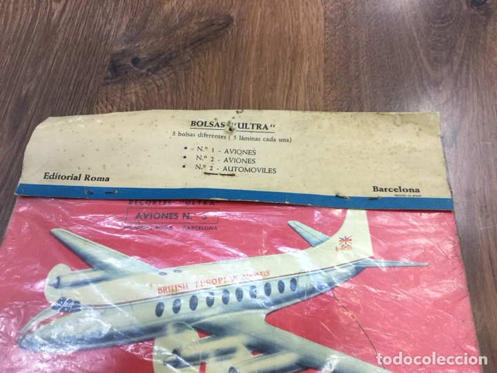 Coleccionismo Recortables: Bolsas Ultra Aviones Nº1 Contiene 5 laminas recortables - Foto 3 - 130400354