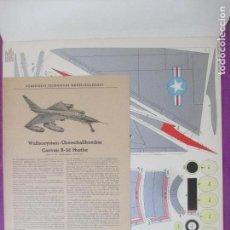 Coleccionismo Recortables: RECORTABLE AVION GUERRA, CONVAIR B-58 HUSTLER, ALEMANIA, GERMANY, 4 HOJAS. Lote 133545302