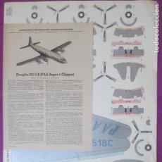 Coleccionismo Recortables: RECORTABLE AVION, DOUGLAS DC-6B, PAA SUPER 6 CLIPPER, ALEMANIA, GERMANY, 3 HOJAS. Lote 133545506