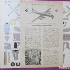 Coleccionismo Recortables: RECORTABLE AVION, DOUGLAS DC-7C, SEVEN SEAS, ALEMANIA, GERMANY, 7 HOJAS. Lote 133545585