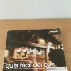 Coleccionismo Recortables: GUIA FACIL DEL BUS BARCELONA 2002. Lote 133720362
