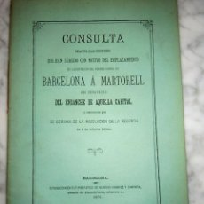Coleccionismo Recortables: MARTORELL - BARCELONA - MARTORELL , DOCUMENTO DE ESTE FF.CC. AÑO 1871. Lote 135412666