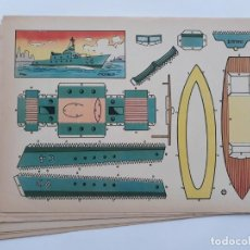 Collectables Paper Dolls - LOTE 9 RECORTABLES ANTIGUOS, RECORTABLE BARCO - 137595730