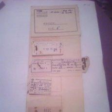 Coleccionismo Recortables: BILLETES DE TREN ANTGUOS 1962. Lote 140547310