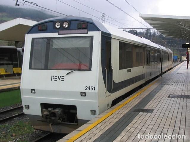 Coleccionismo Recortables: Recortable FEVE 2451. Ferrocarriles españoles de vía estrecha - Foto 2 - 149234893
