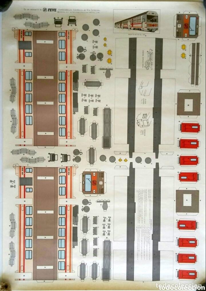 RECORTABLE FEVE 2451. FERROCARRILES ESPAÑOLES DE VÍA ESTRECHA (Coleccionismo - Recortables - Transportes)