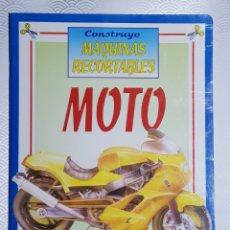 Coleccionismo Recortables: CONSTRUYE MÁQUINAS RECORTABLES MOTO - SUSAETA 1990 - NUEVO A ESTRENAR SIN USO. Lote 150570730