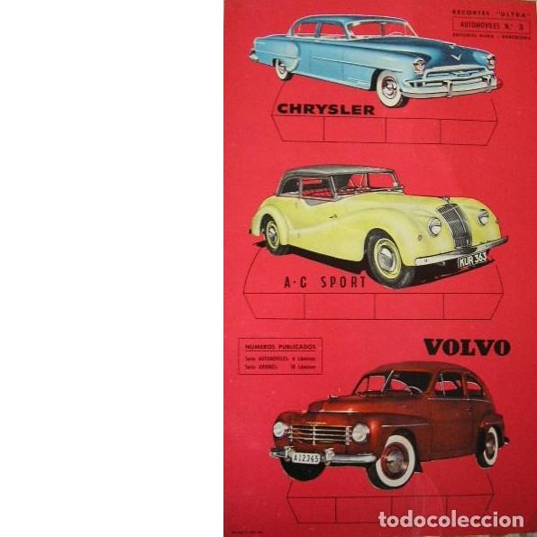 RECORTES ULTRA. AUTOMÓVILES Nº 3. EDITORIAL ROMA. 1961 (Coleccionismo - Recortables - Transportes)