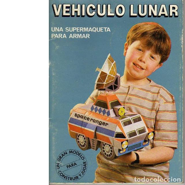 RECORTABLE TROQUELADO VEHÍCULO LUNAR (Coleccionismo - Recortables - Transportes)